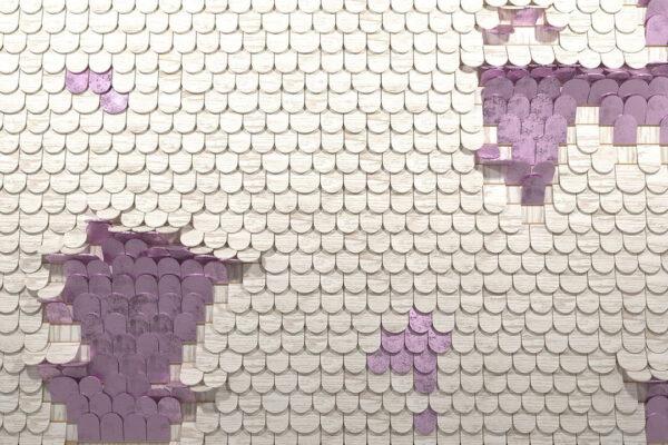 Fototapety Sequin biały z fioletowym | fototapeta do kuchni