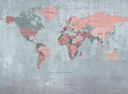 Fototapety Dashing | fototapeta mapa świata