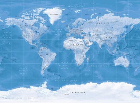 Fototapety Dashing Blue | tapeta mapa świata