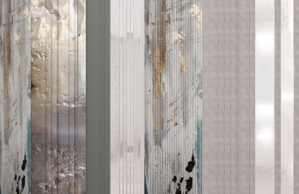 Fototapety Silkeborg szary i srebrny odcień | tapeta 3d do łazienki