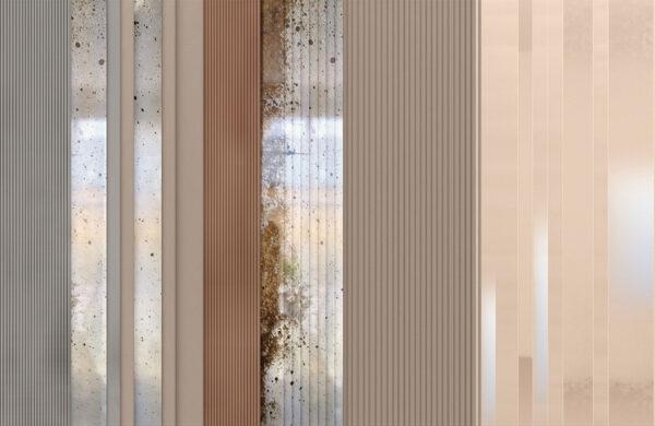 Fototapety Silkeborg miąższ i srebrny odcień | tapeta 3d do łazienki