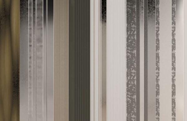 Fototapety Silkeborg zielony srebrny i jasny odcień | tapeta 3d do łazienki