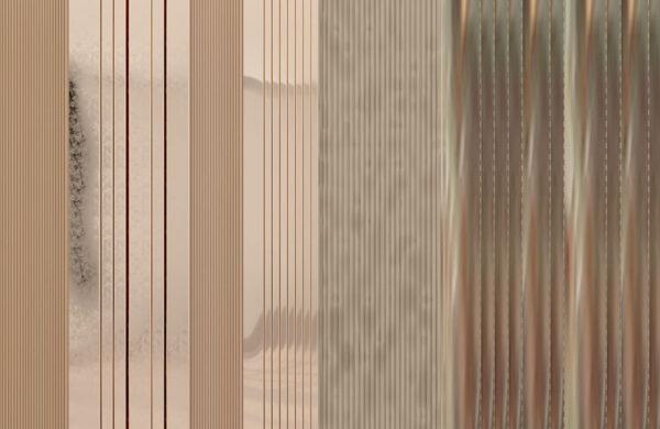 Fototapety Silkeborg brązowy i beżowy odcień | tapeta 3d do łazienki
