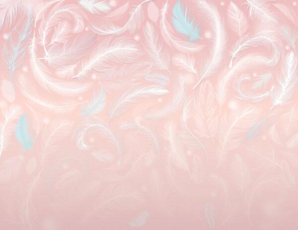 Fototapety Frequency różowy przykład | tapety 3d do salonu