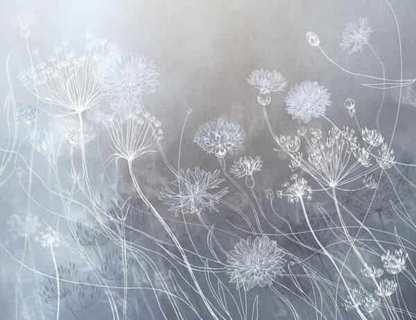 Fototapety Vento szary odcień | fototapeta kwiat