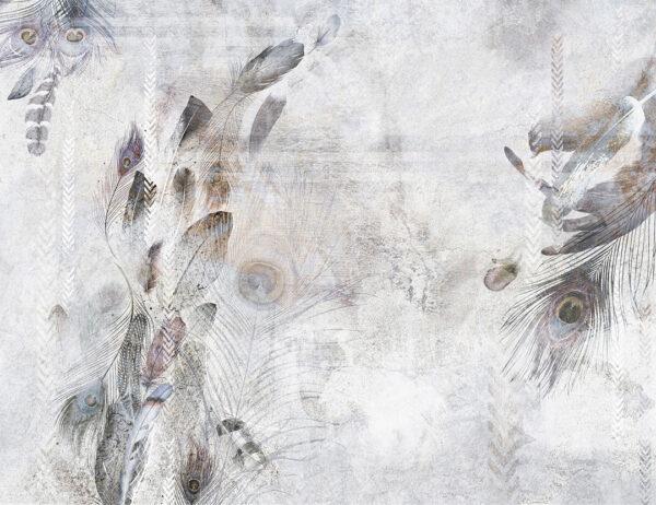 Fototapety Pavone biało-różowy odcień | tapety 3d