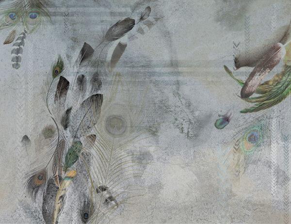 Fototapety Pavone szary przykład | tapety 3d