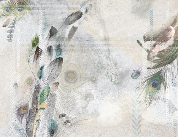 Fototapety Pavone biały odcień | tapety 3d