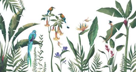 Fototapety Tropici zielone odcienie | fototapeta kwiaty