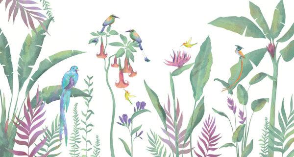 Fototapety Tropici fioletowe odcienie | fototapeta kwiaty