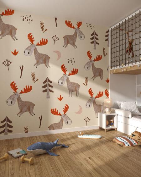 Fototapety Alce | tapety do pokoju dziecięcego