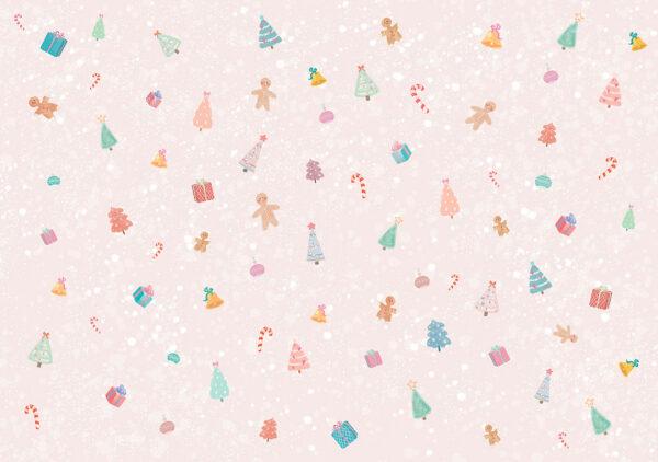 Fototapety Gingerbread Man różowe odcienie | fototapeta dla dzieci