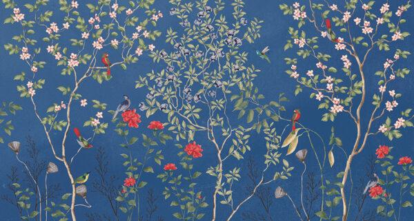 Fototapety Giardino niebieskie odcienie | tapety 3d do salonu