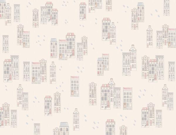 Fototapety Piccole case białe odcienie | fototapeta dla dzieci