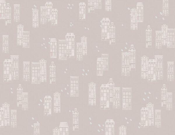Fototapety Piccole case szare odcienie | fototapeta dla dzieci