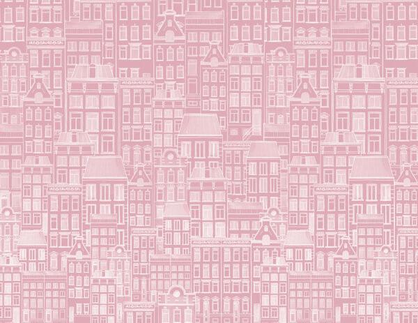 Fototapety Modello Di Case różowe odcienie | fototapeta dla dzieci