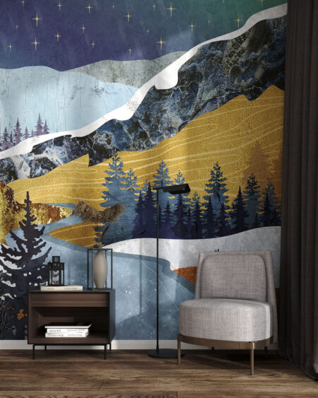 Fototapeta góry Verschneite Berge | tapety 3d do sypialni