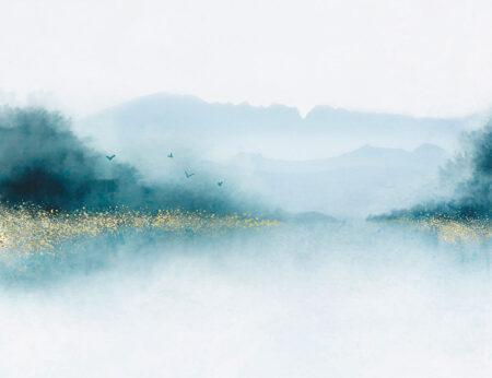 Fototapety Nebbia niebieskie odcienie | tapety 3d