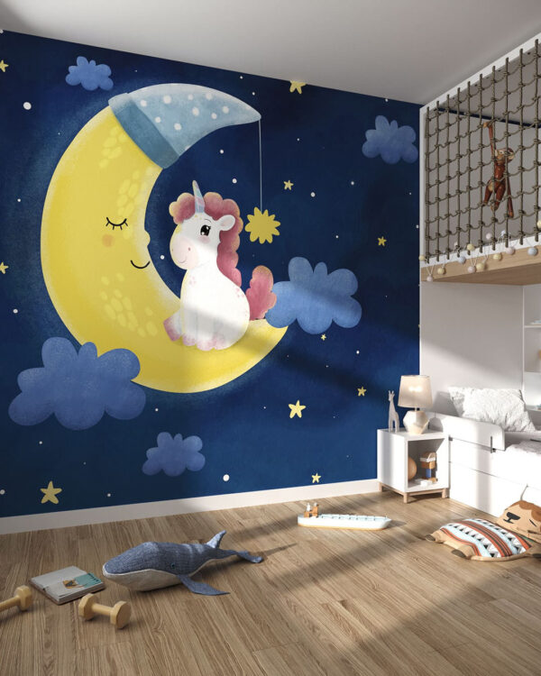 Kup Unikat Fototapety Luna e Unicorno | fototapeta dziecięca