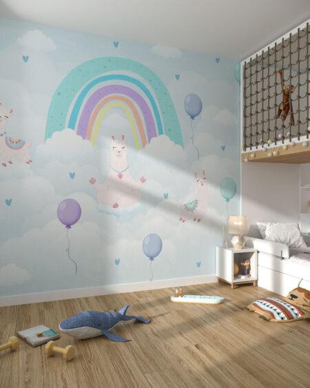 Fototapety Calmi Lama | tapety do pokoju dziecięcego