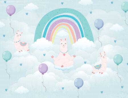 Fototapety Calmi Lama odcienie błękitnego nieba   tapety do pokoju dziecięcego