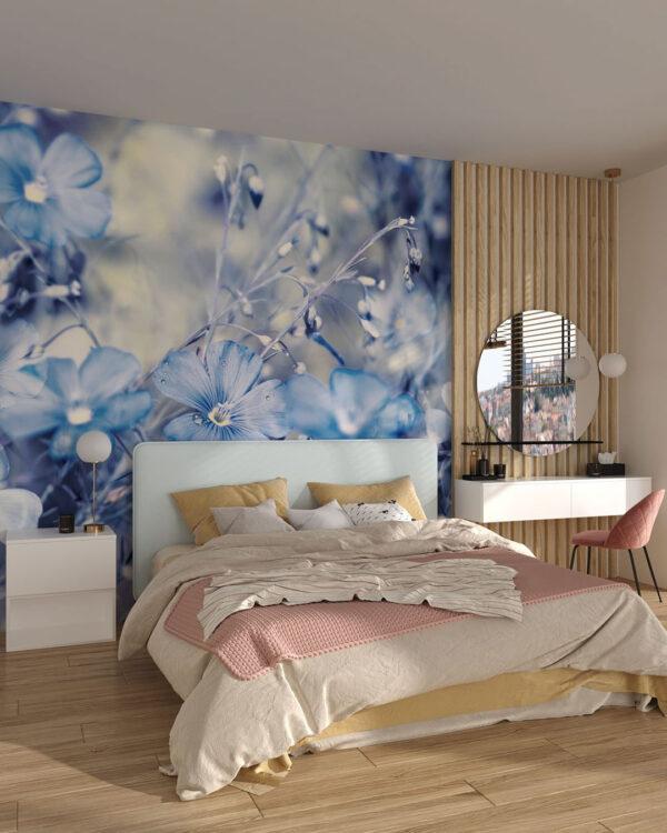 Fototapety Myosotis | fototapety 3d kwiaty do sypialni