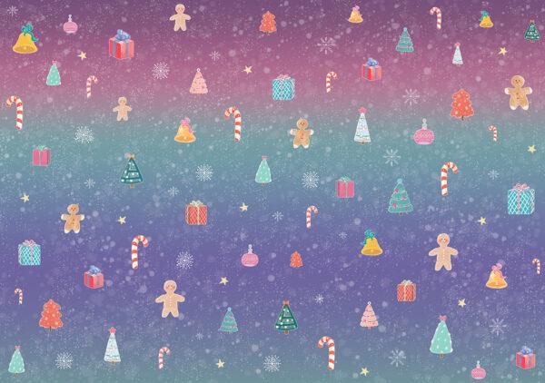 Fototapety Natale fioletowe odcienie | fototapeta 3d dla dzieci