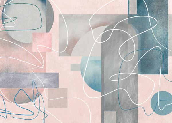 Fototapety Kritzeln beżowe odcienie | tapety 3d do salonu