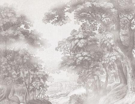 Fotapeta Bajkowy Las szary przykład | tapeta las