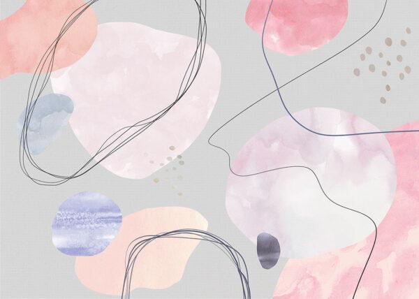 Fototapety projektantów Kringel kolor pastelowy | tapety 3d do salonu
