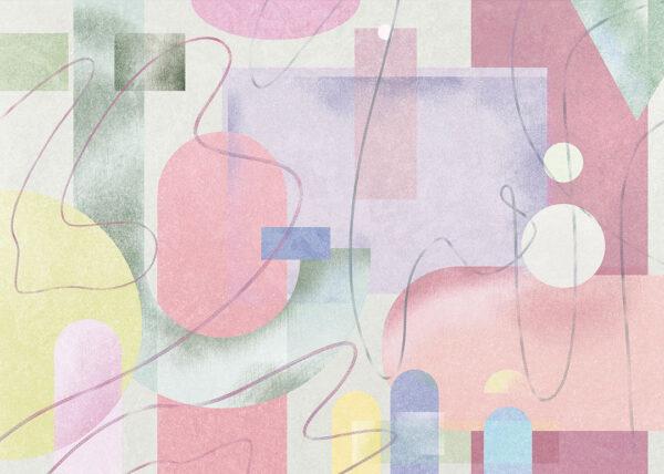 Fototapety Riccioli jasnozielone odcienie | tapety do sypialni 3d