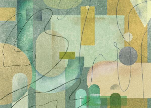 Fototapety Riccioli zielone odcienie | tapety do sypialni 3d