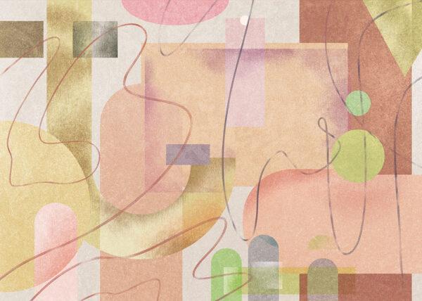 Fototapety Riccioli różowe odcienie | tapety do sypialni 3d