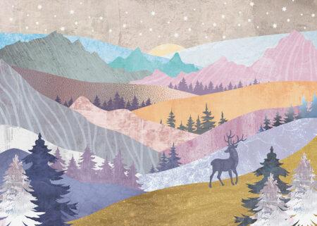 Fototapeta Kolorowe Góry | fototapety las
