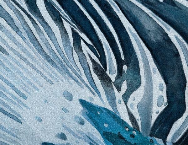 Fototapety Zebras niebieskie odcienie   tapety 3d