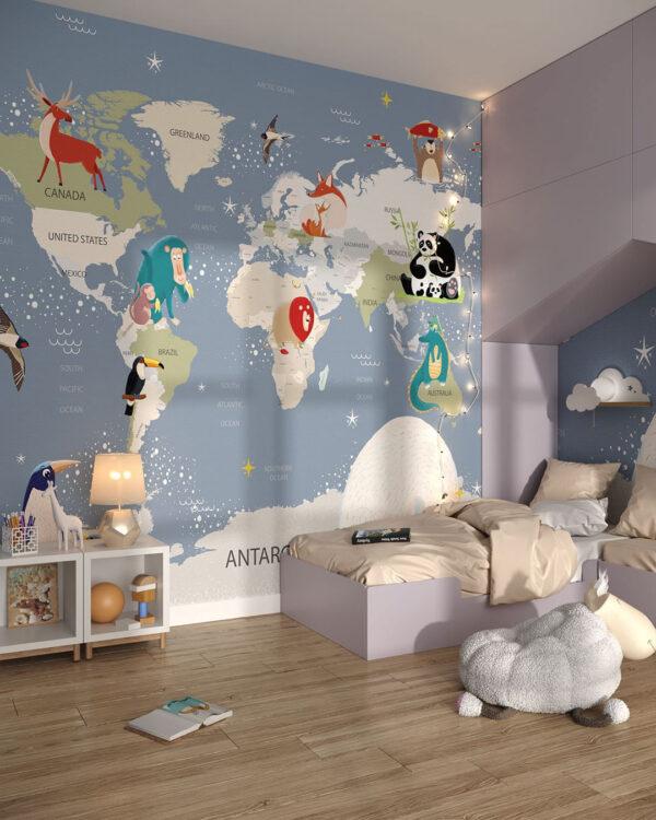 Fototapety Animal Map | fototapeta do sypialni