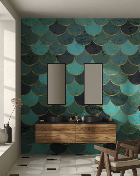 Fototapety Turquoise scales | tapety 3d do kuchni
