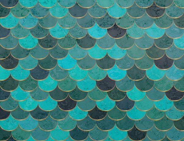Fototapety Turquoise scales szmaragdowy i zielony | tapety 3d