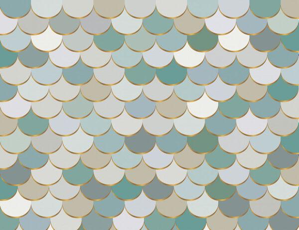Fototapety Pastel Scales przykład zielonych odcieni | fototapeta do kuchni