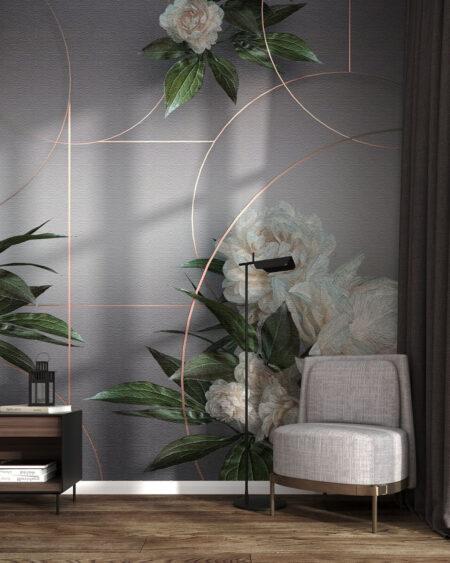 Fototapeta kwiat Peonie | tapety 3d do salonu