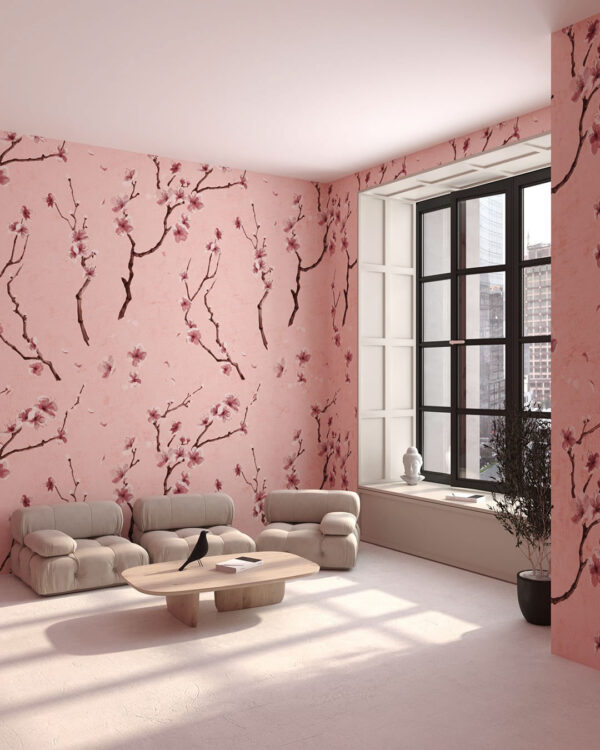 Fototapety Sakura | tapety do salonu