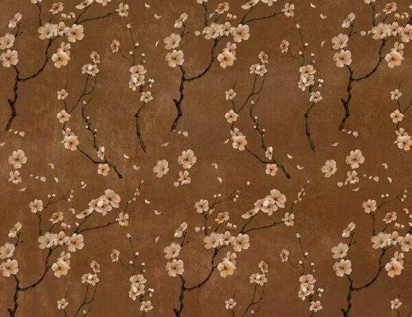 Fototapety Sakura brązowe odcienie | fototapety kwiaty