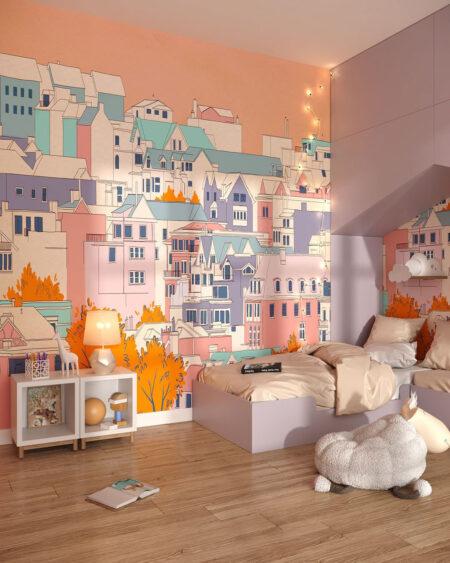 Fototapety Bella città | tapety do pokoju dziecięcego