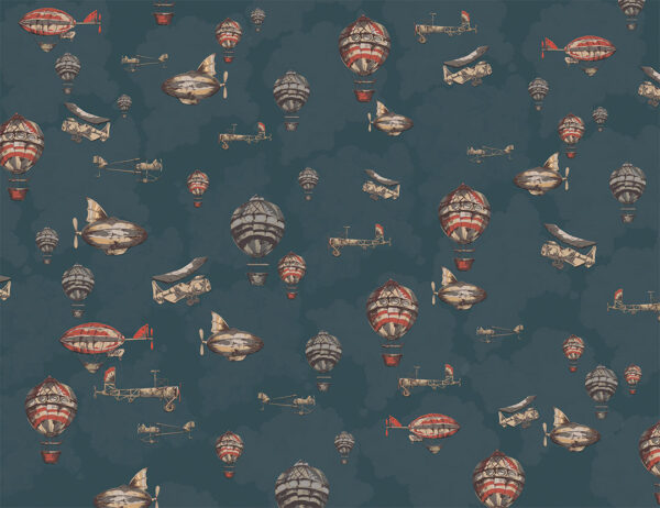 Fototapety Flug niebieskie odcienie | fototapeta 3d dla dzieci
