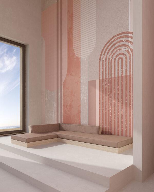 Fototapety Geometria z Urokiem   tapety 3d do salonu