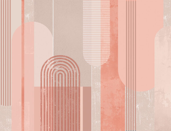 Fototapety Geometria z Urokiem różowe odcienie   nowoczesne tapety 3d