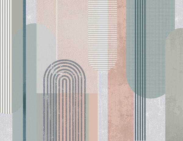 Fototapety Geometria z Urokiem turkusowy odcień   nowoczesne tapety 3d