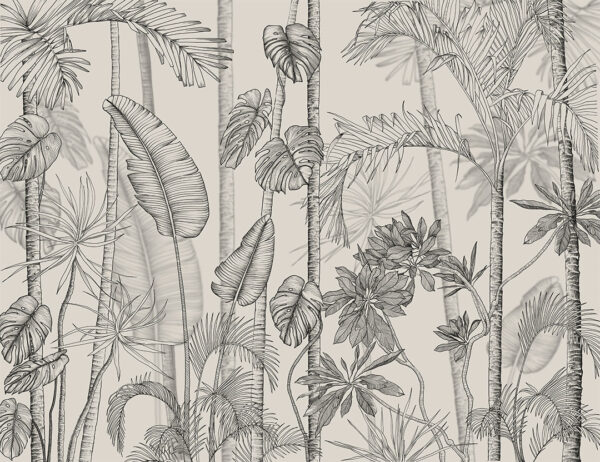 Fototapety Randers szare odcienie | fototapeta kwiaty