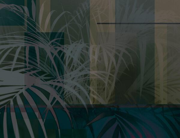 Fototapety Slagelse ciemnozielony odcień | fototapeta kwiaty