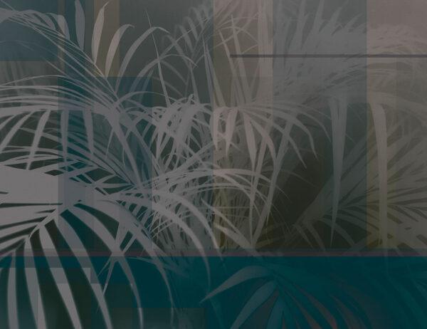 Fototapety Slagelse szaro-zielony odcień | fototapeta kwiaty